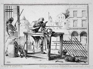 ferronnier posant une grille - кузнец, изготовляющий решетки