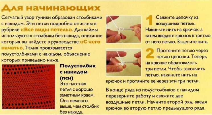 Схема и описание вязания крючком туники с широкими рукавами для начинающих 2011.  Вяжем крючком простую летнюю тунику...