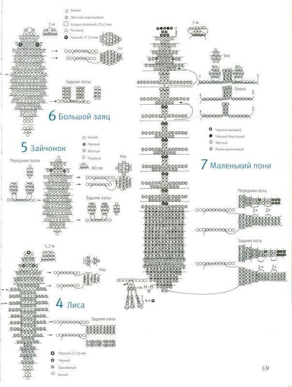 Описание и схемы плетения