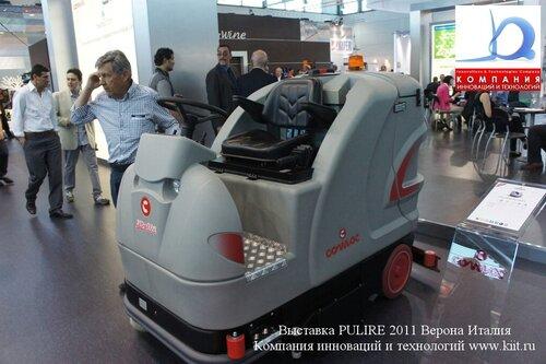 Поломоечная машина с сиденьем оператора от COMAC