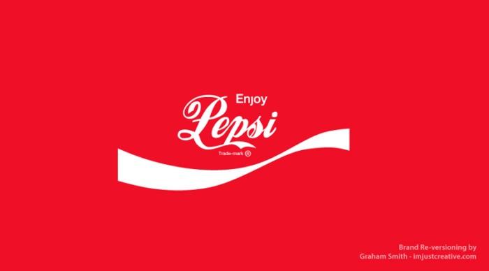 логотип Пепси выглядит как Кока-кола - бренды которые поменяли местами
