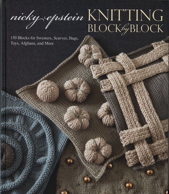 arts and craft books: knitting block by block