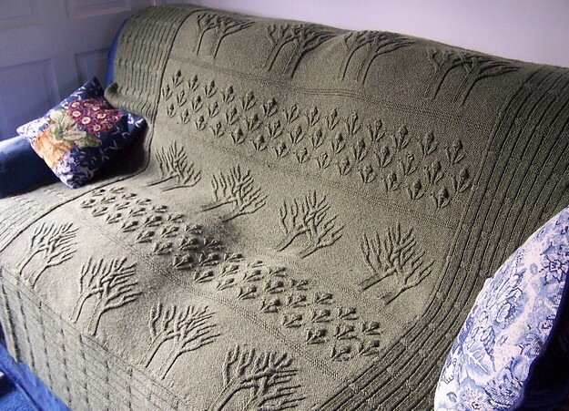 Tree Of Life Knitting Pattern Afghan : ???? ? ???????