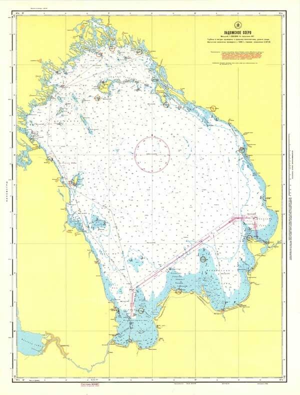 Карта всего Ладожского озера