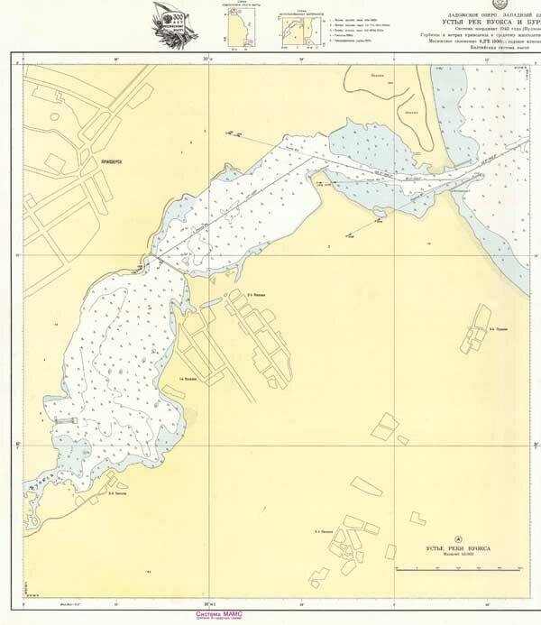 Карта устье реки Вуокса
