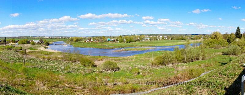 Вид на Москва-реку от стен Можайского Лужецкого Ферапонтова монастыря, Можайск