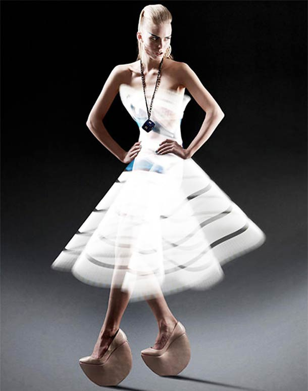 Light Painting Fashion – Top Models wearing only beautiful light dresses