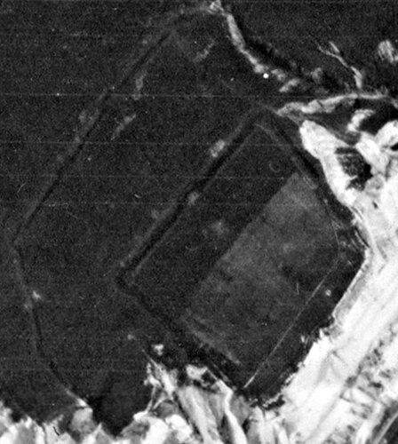 Крепость на меловой горе. Аэросъемка 1941