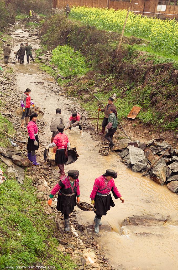 15. Субботник в деревне Дажай народа Yao (Яо). Экскурсия к рисовым террасам на отдыхе в Китае