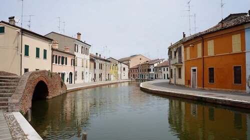 Streets of Comacchio, Italy
