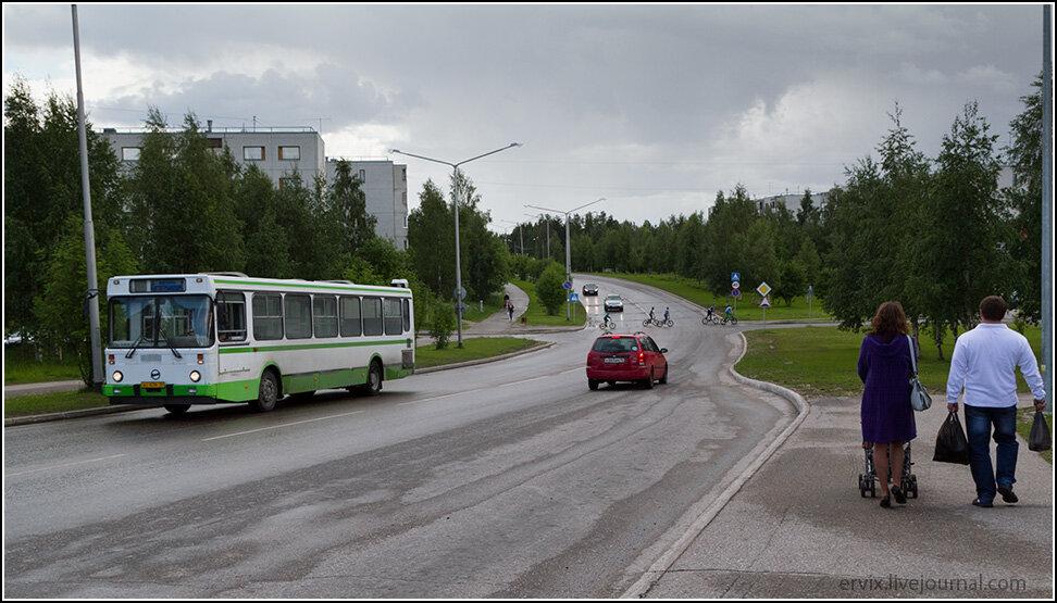 Широкие улицы Костомукши