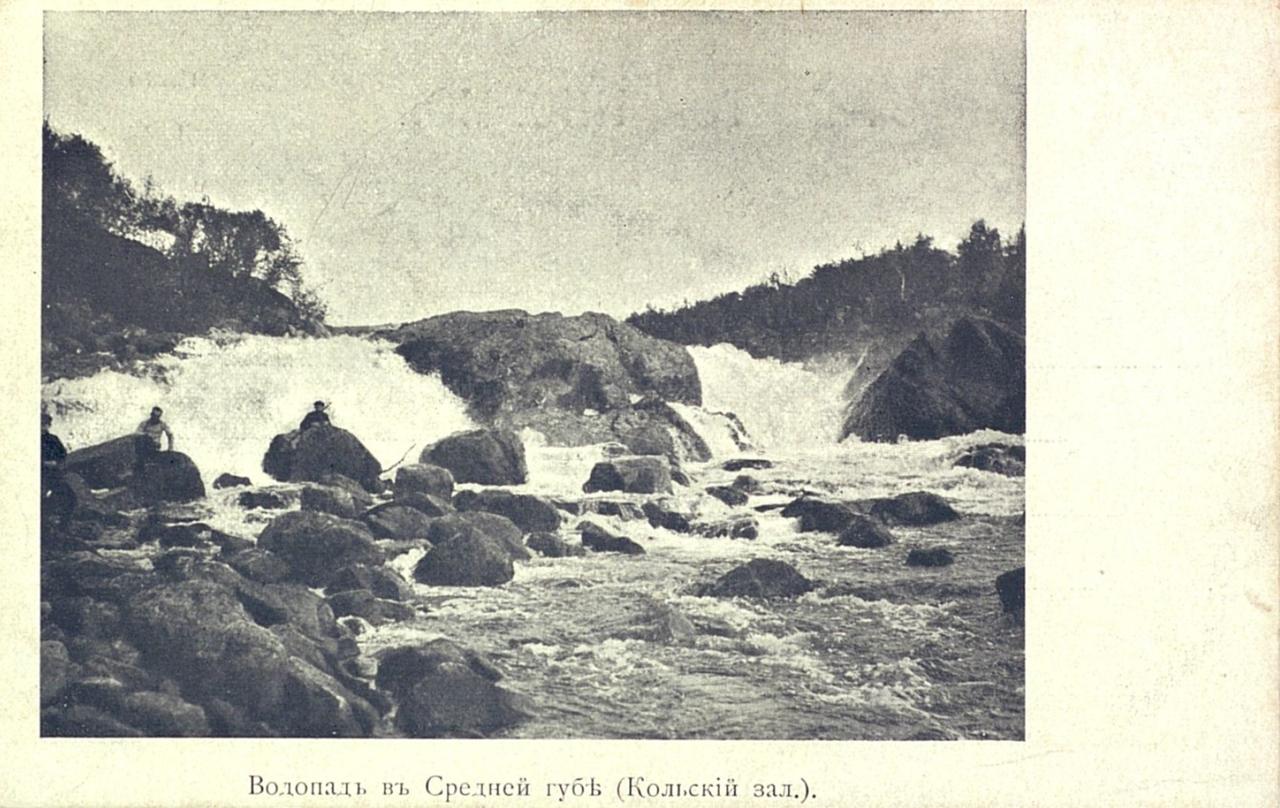 Водопад в Средней губе (Кольский залив)
