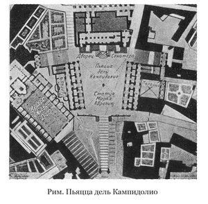 Площадь дель Кампиодолио в Риме, план
