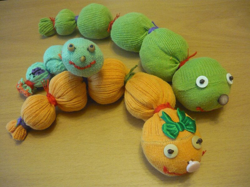 Детские игрушки из колготок
