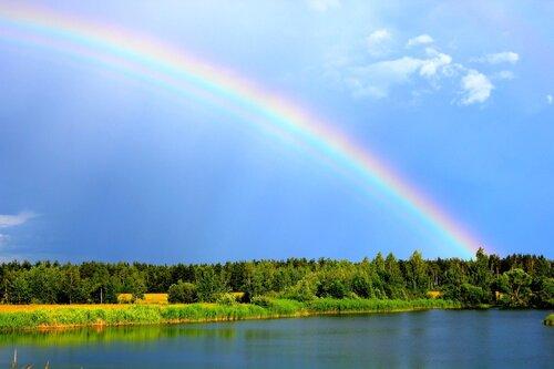 Лето радуга на яндекс фотках
