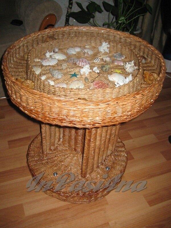 Мебель из газетных трубочек своими руками фото 23