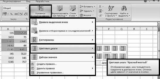 Как форматировать ячейки Excel с двух- или трехцветной шкалой?
