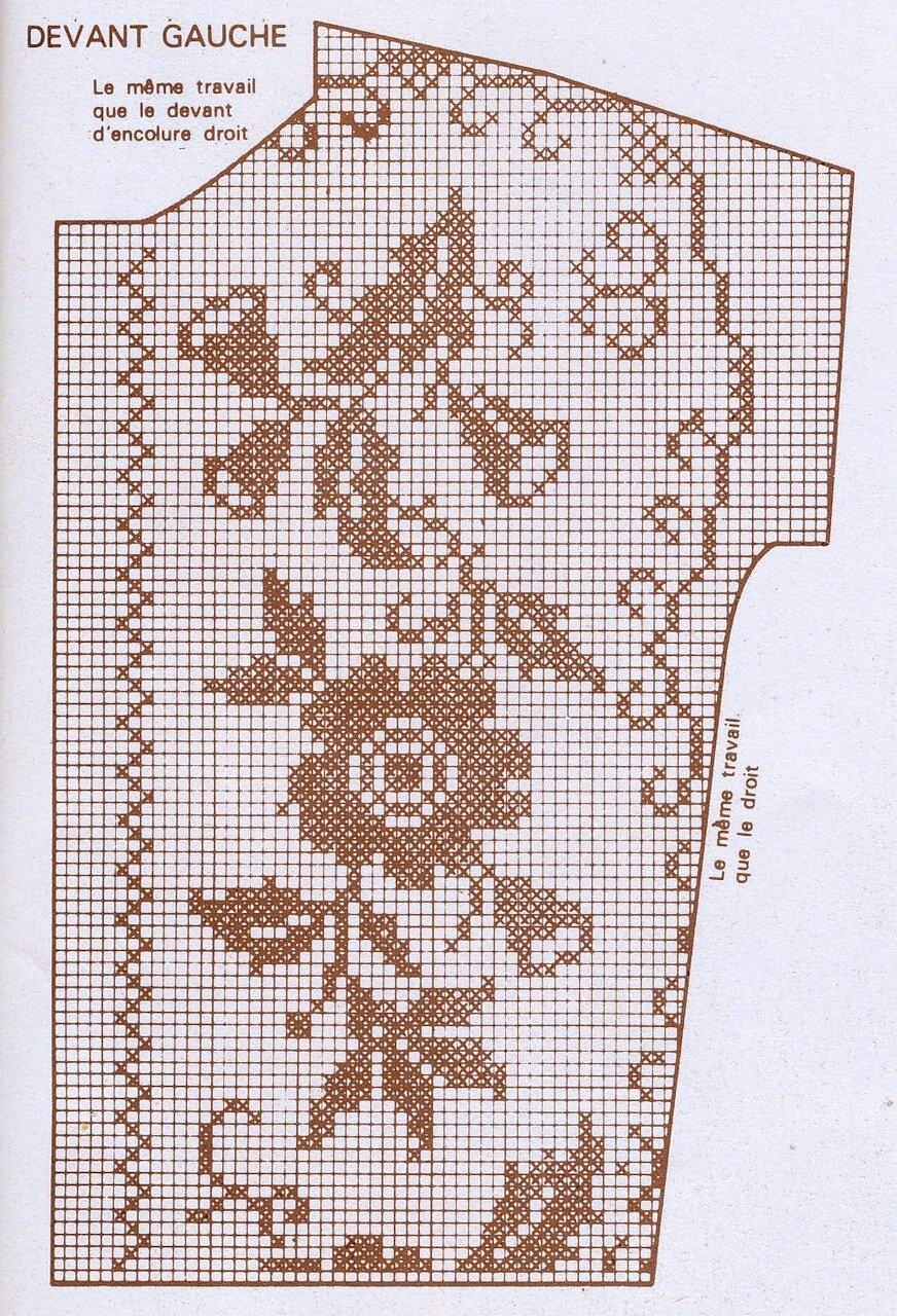 В технике филейного вязания