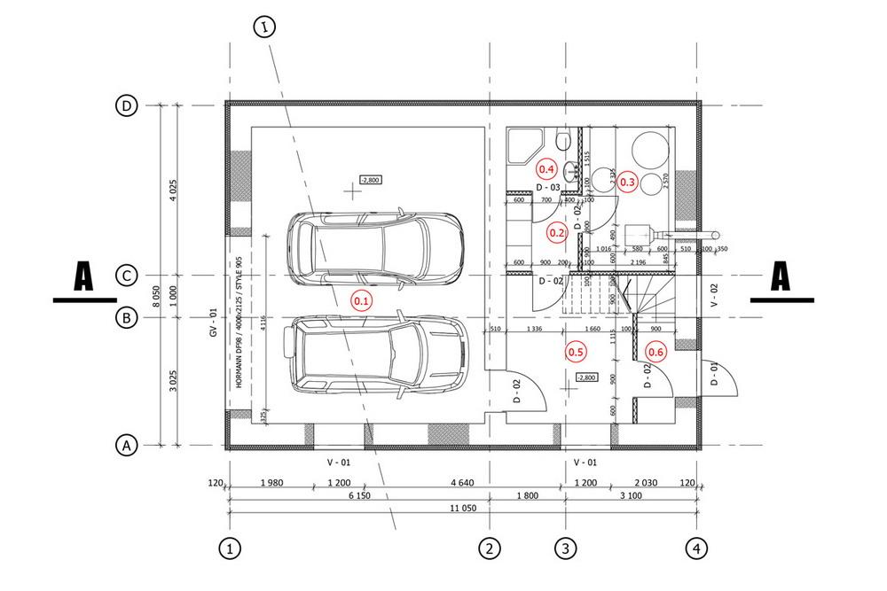 Дом в латвийской деревне для пожилой семейной пары простой, этаже, находится, фасадах, придавая, форме, некоторую, изюминку, Расположенные, первом, кухнястоловая, гостиная, выходят, треугольную, террасу, здесь, гостевая, плане, Скривери, Peteris