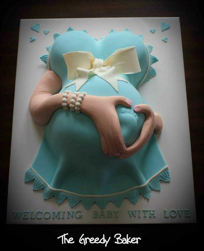 Неаппетитные торты к рождению ребенка