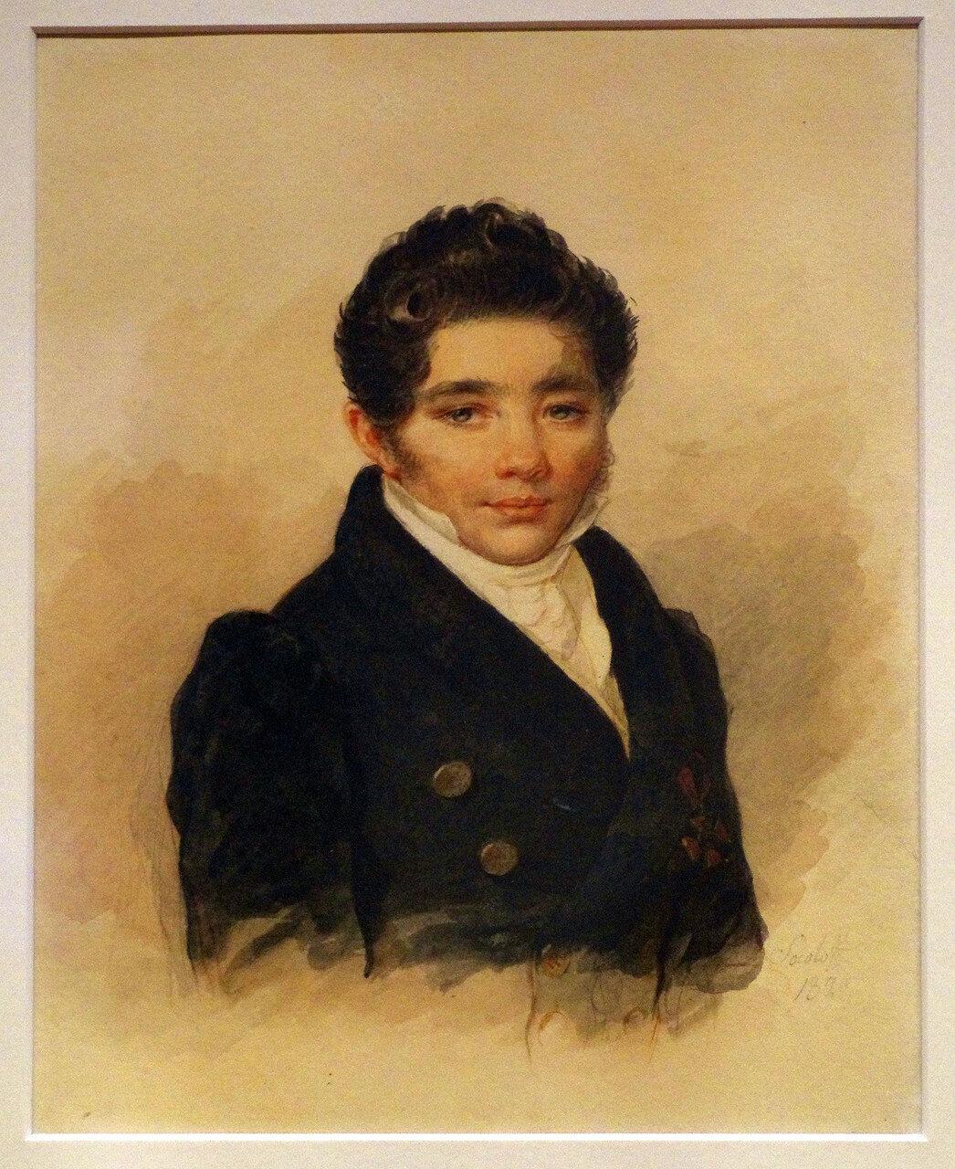 Петр Федорович Соколов. Портрет неизвестного с орденом Св. Владимира IV степени. 1829