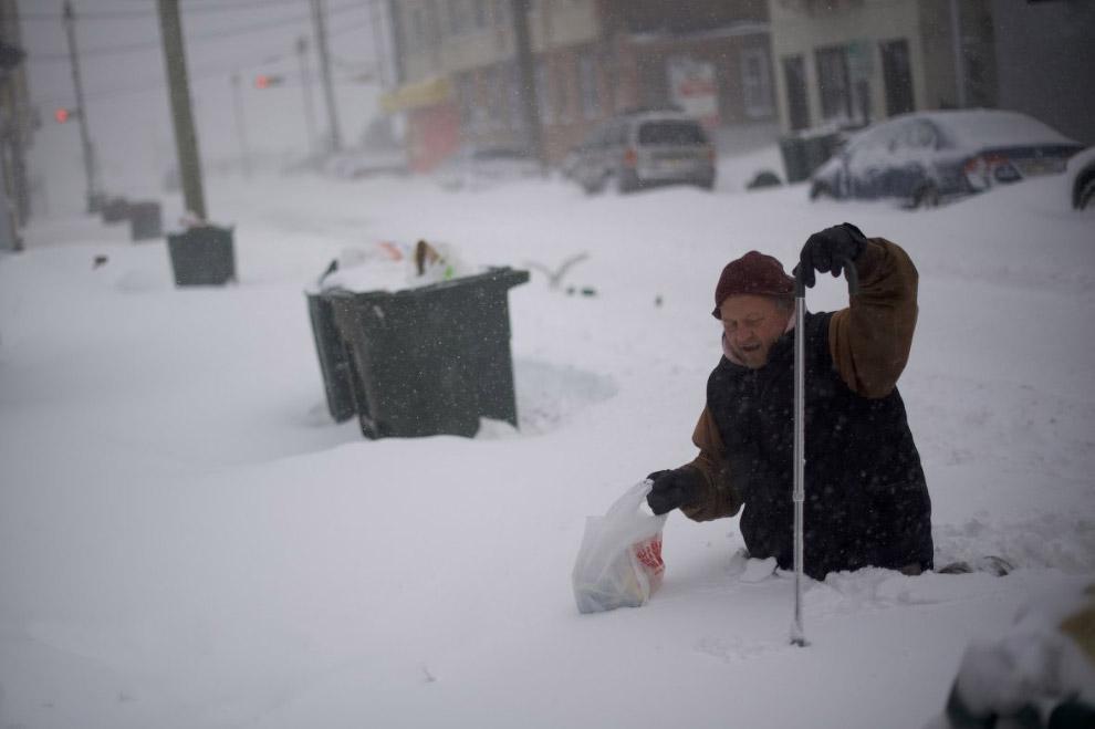 11. Циклон «Грейсон» в штате Массачусетс. (Фото Scott Eisen):