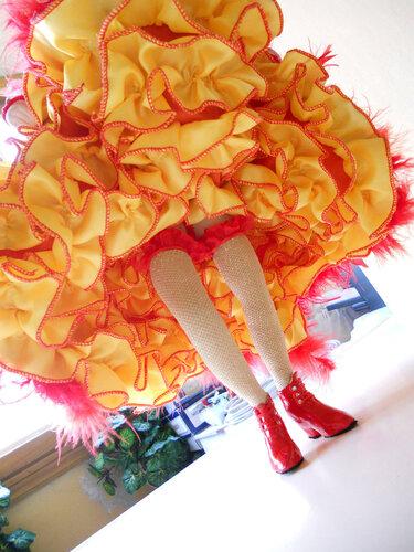 Кукла-танцовщица КАНКАН