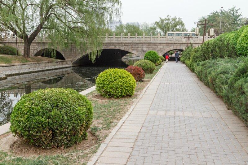 Автомобильный мост, парк стены династии Юань, Пекин