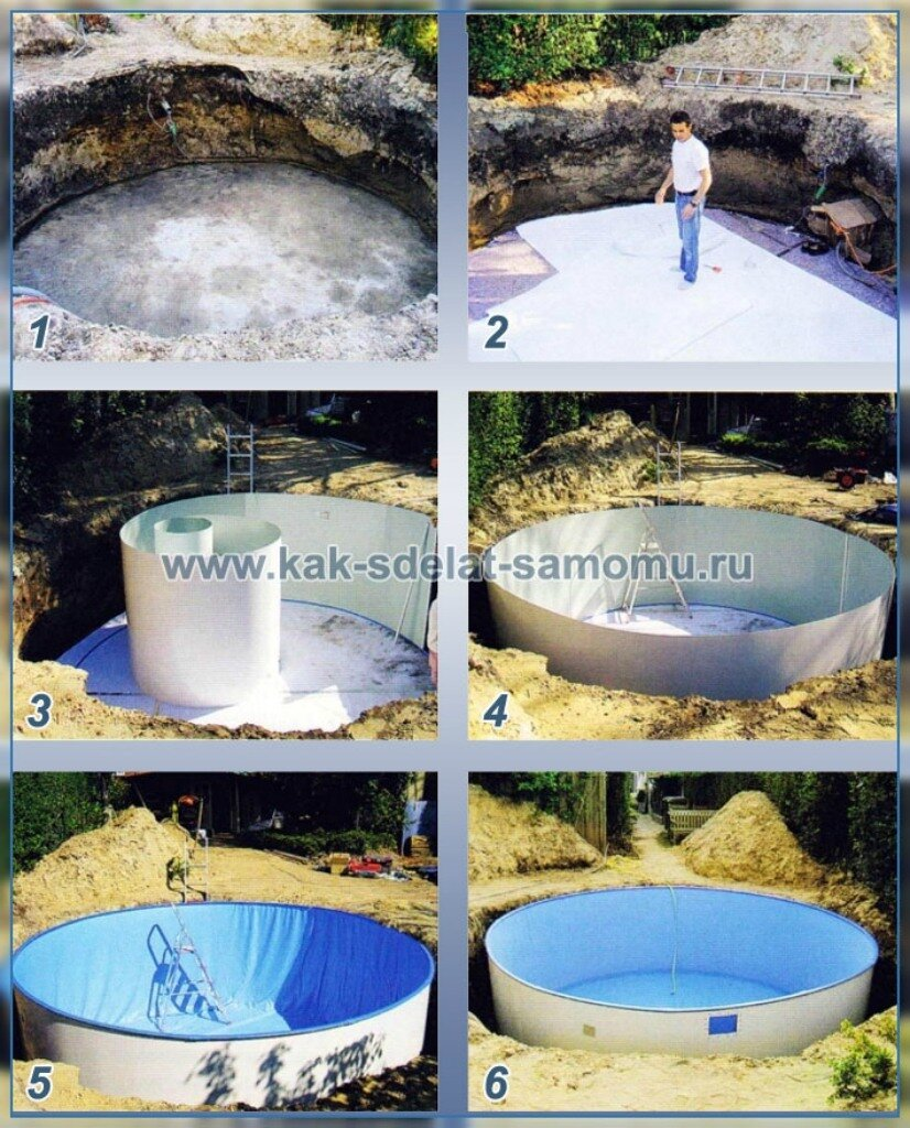 Мини-бассейн на даче своими руками