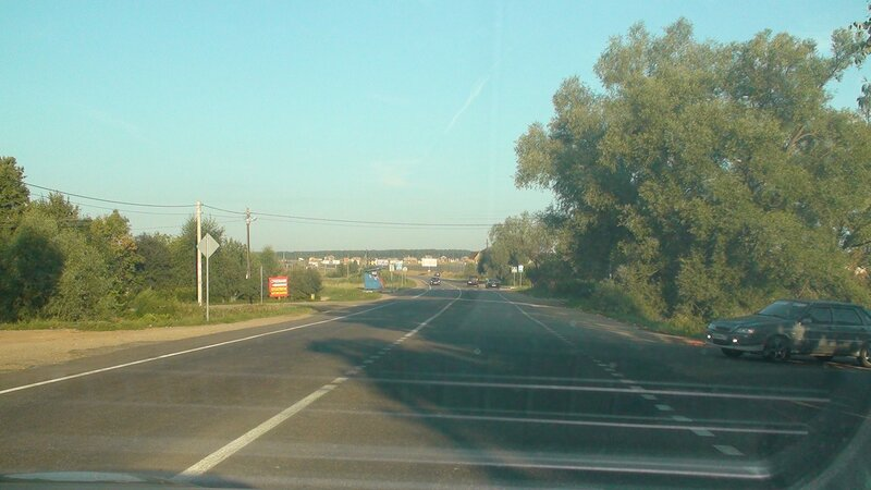 Вид на Новорижский от деревни Покровское