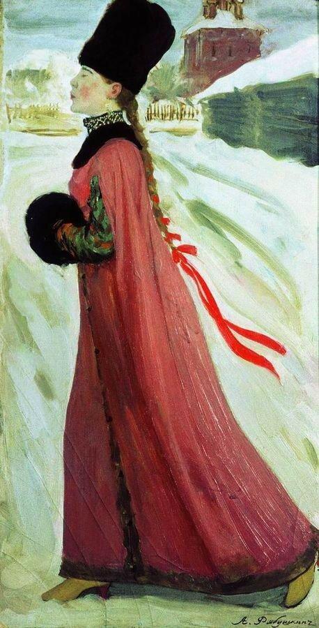 Московская девушка XVII века (В праздничный день). 1903.jpg