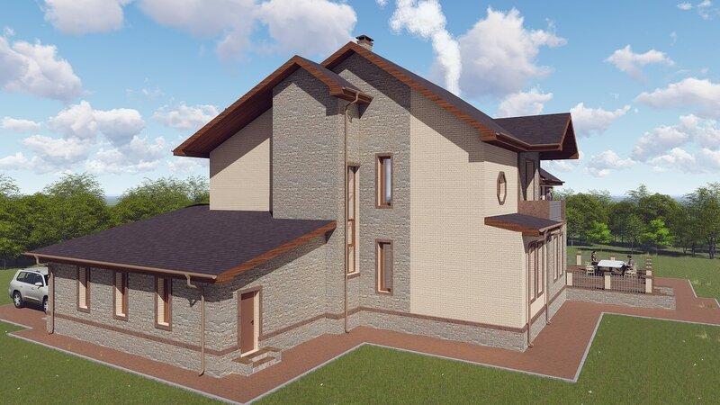 проект дома, визуализация 5
