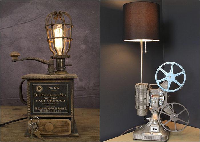 7. Из старого в новое Даже самый обычный старый прожектор или кофемолку можно превратить в оригиналь