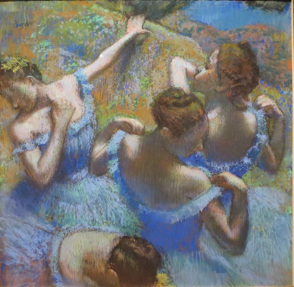 Эдгар Дега, «Голубые танцовщицы», 1897