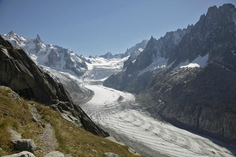 Самые красивые крупнейшие ледники мира: Мер-де-Глас, Франция