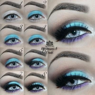 Фотоуроки макияжа голубых глаз