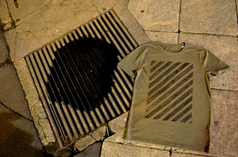 Street Serigraphy - Creating screen printing with manhole covers
