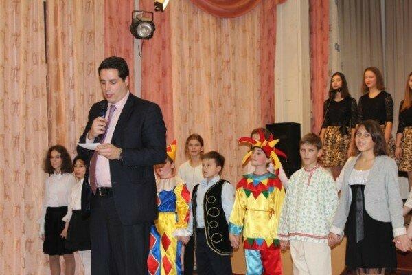 Сербия - Россия, школьники, Москва