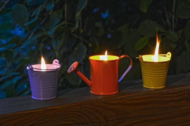 Дачный вечер... Свечи...