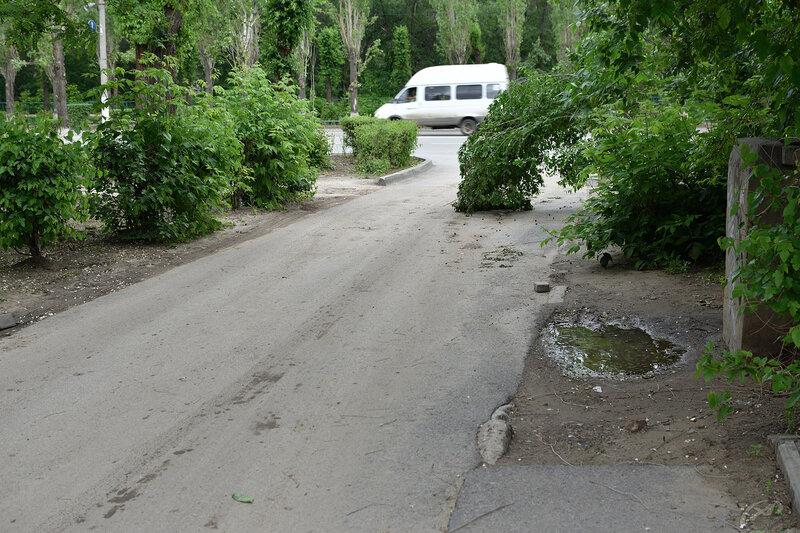 г. Волжский, грязь на дорогах