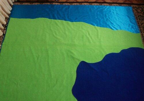 Детские развивающие коврики своими руками... кроим основу коврика