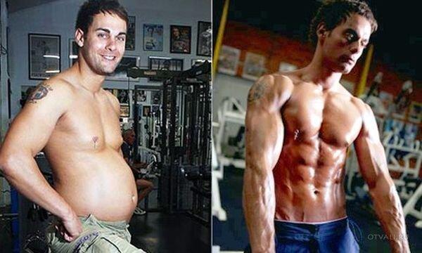 Начал заниматься в зале и похудел