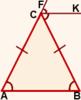 svoystvo bissektrisyi vneshnego ugla ravnobedrennogo treugolnika