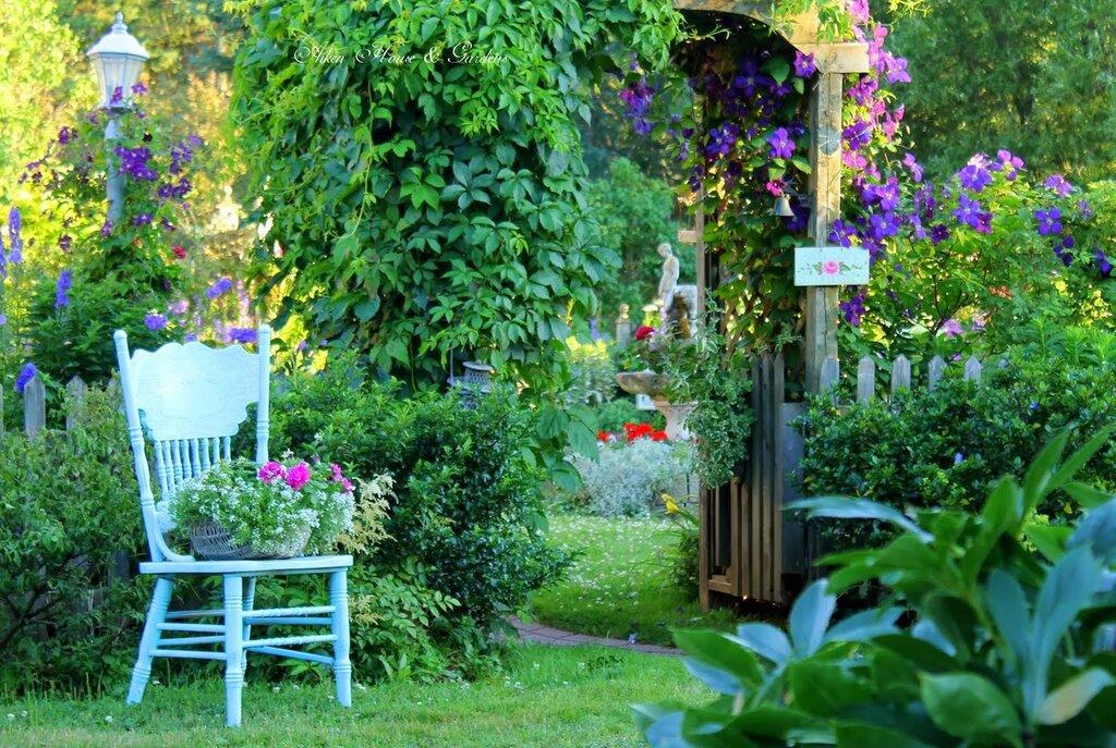 цветные уголки в саду фото играет саму себя