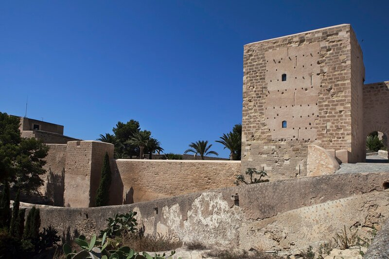 Courtyard of the Castle Santa Barbara