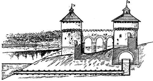 Рисунок 56. Схема водоснабжения Тайницкой башни (реконструкция).