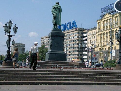 Памятник Пушкину сегодня