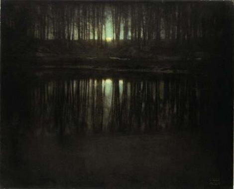 Автор: Петкун Евгений, блог Евгения Владимировича, фото, фотография: Лунное сияние на пруду.
