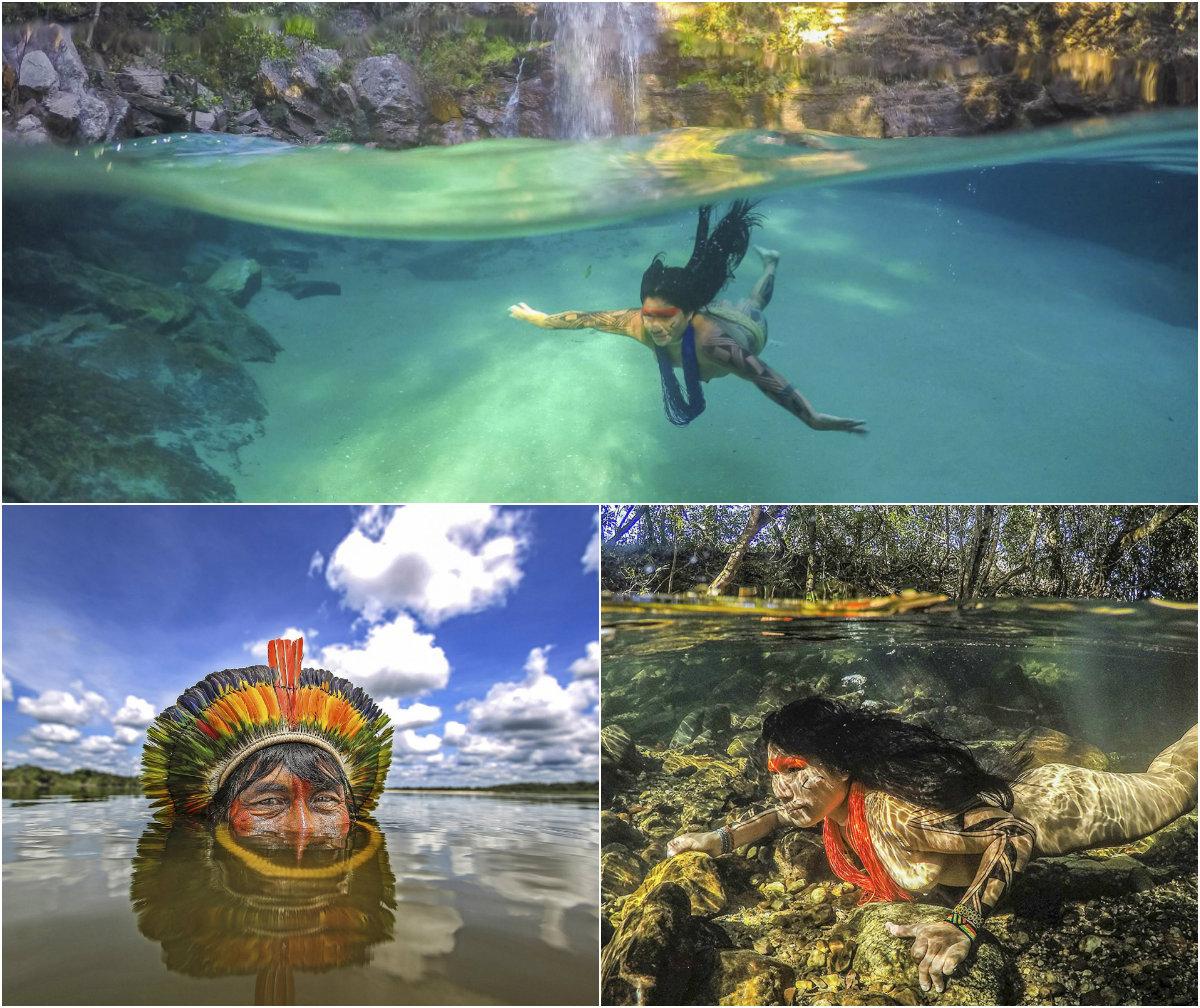 Потрясающие снимки затерянного в лесах бразильского племени