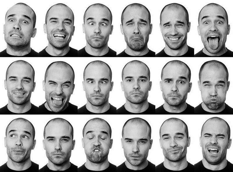 мимика фото лица